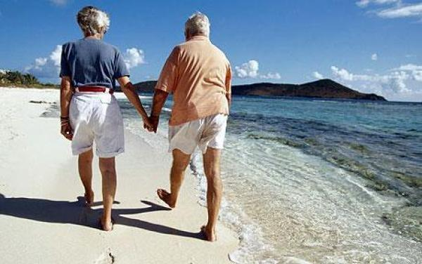 Old travellers. During a rest season in Egypt it is possible to meet many pensioners